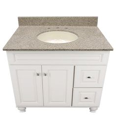 US Marble Cultured Magna Granite, shown in Pebble. Eased Edge with Oval Undermount Bowl.
