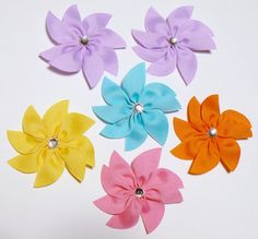 Girls Flower Hair Bow Set Toddler Childrens от GenesisHairbows, $21.98