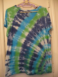 DIY Walmart Tie Dye! Not bad for a first try!