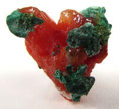 Cerussite with Cuprite and Topaz / Mineral Friends <3