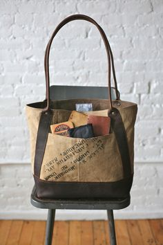 WWII era Military Canvas & Leather Carryall