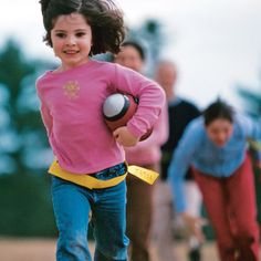 Flag Football for the whole family! Easy to make flags and goalposts make this activity fun for everyone.