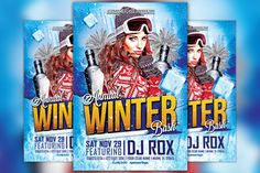 Check out Annual Winter Bash Flyer Template by Flyermind on Creative Market