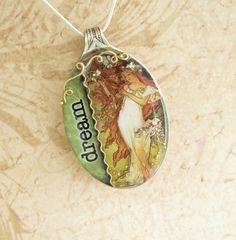 Spoon Necklace Resin Spoon Pendant Featuring by SpoonfestJewelry