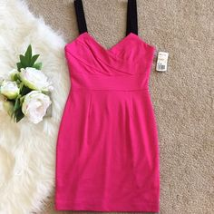 Forever 21 Pink Bodycon Dress New with tag. Middle left has a little unstitching (shown in picture #3).  Fast shipper.  No trades. Forever 21 Dresses Mini