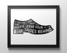 Please remove your shoes printable sign from The Crown Prints on Etsy