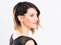 5-Minute Braid: DIY Cara D's Side Braid for Your Holiday Party via Brit + Co.