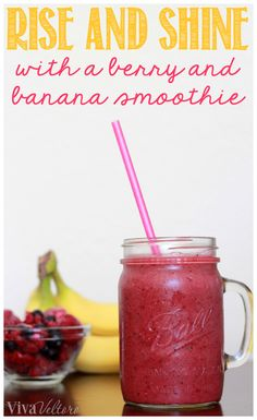 Start your day off right with this Berry Banana Smoothie!  It's easy to make and so good!