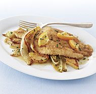 Crispy Flounder with Pears, Endive, and Meyer Lemon