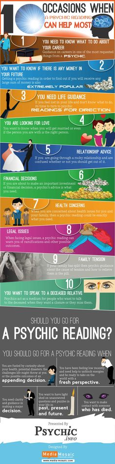 Occasions When A Psychic Reading Can Helps Most  #Infographic #Health #Psychic