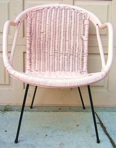 This pink chair reminds me of sherbert and cool summer days.