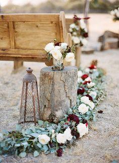 Floral Arrangements 25 Chic Fall Wedding Aisle D Wedding Ceremony Ideas, Cheap Wedding Venues, Winter Wedding Decorations, Ceremony Decorations, Wedding Themes, Wedding Table, Wedding Colors, Wedding Flowers, Winter Weddings