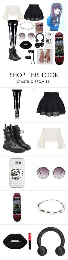 """""""Recording a Video"""" by rainbowsdear on Polyvore featuring Giuseppe Zanotti, Rosetta Getty, Casetify, Monki, Darkstar, Lipsy, Lime Crime and Vans"""