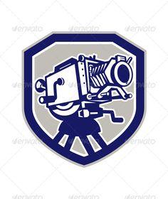 Movie Film Camera Vintage Shield