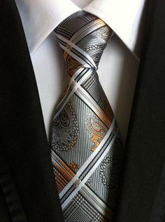 Vintage Paisley Neck Ties Polyester Plaid Necktie Floral Gravata for Men