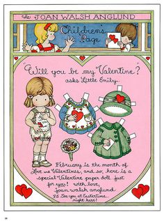 "Joan Walsh Anglund, ""Will you be my Valentine?"" asks Little Emily"