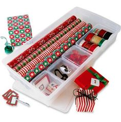 Customized Gift Wrap Center   Contemporary   Storage And Organization      By The Container Store