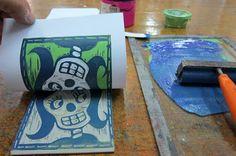 Upper School Art (Grades 7-12): Block Reduction Printmaking with Grade 8