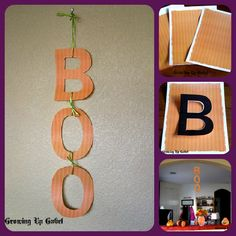 Easy BOO craft using Free #Halloween Printables for Crafting and Scrapbooking from Growing Up Gabel #crafts