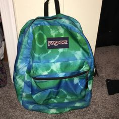 Tye dye book bag Jansport book bag , good condition, no rips or tears Jansport Bags Backpacks