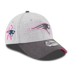 4dcd7797bc7 New Era 2015 BCA 39Thirty Cap-Gray Pink Jersey Patriots