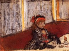 Woman in a Cafe 1877 | Edgar Degas | Oil Painting