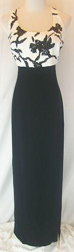 C. MERCEDES FERREIRA DAYMOR COUTURE Maxi Cocktail Evening Gown Dress Sequins 6 $99.99