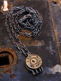 弾丸1連ネックレス