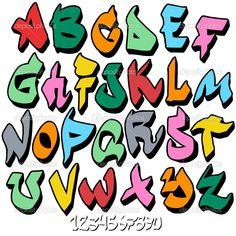 Image detail for -Graffiti font alphabet stock vector Graffiti Art, Graffiti Alphabet, Grafitti Letters, Graffiti Tagging, Typography Alphabet, Graffiti Drawing, Graffiti Styles, Alphabet Police, Alphabet Tag