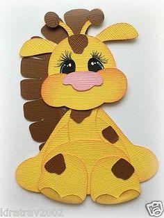 **new** Premade Stuffy Giraffe Zoo Animal Paper Piecing My Tear Bears Kira