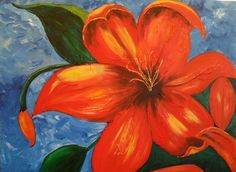 """""""Lillie""""...she is 36 x 40 brushed in acrylic."""
