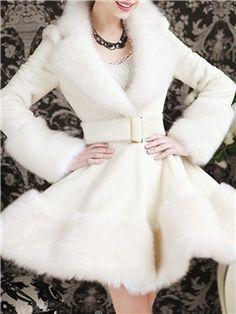 Beautiful Cony Hair Fox Overcoat