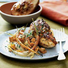 Roast Dijon Chicken and Vegetables   MyRecipes.com #myplate #vegetable #protein
