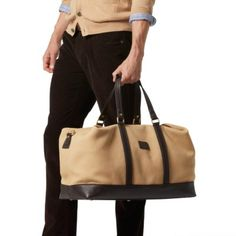 Best Bag I've Ever Owned... Tuscany Weekender Men's Duffle - British Khaki #menswear #dufflebag