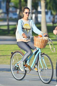 18 Celebs Who Bike in Style
