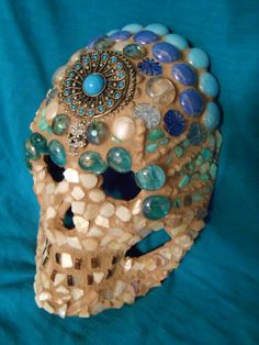 Mayan Beauty Goddess Day of the Dead Mosaic Mask for sale on Ebay