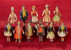 "2"" Ensemble of miniature wooden ""dancing"" dolls 200/400 | Art, Antiques & Collectibles Toys & Hobbies Dolls | Auctions Online | Proxibid"
