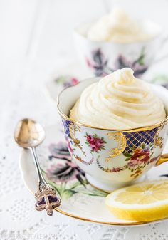 Black Tea Cupcakes with Lemon Icing by raspberri cupcakes, via Flickr