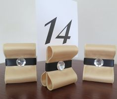 Table Number Holders  Wedding Decor  Set of Ten by ReservedSeating, $35.00