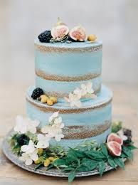 Image result for blue buttercream icing and semi naked cake