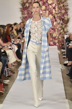 Gingham Patterns Meet Spring Fashion; Oscar de la Renta Spring 2015