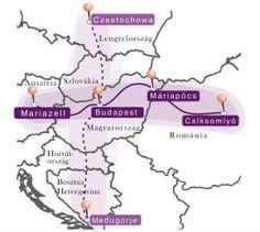 """A Mária Út keresztje ....""""minden zarándoklépés jobbá teszi a világot."""" Minden, Budapest, Marvel, Map, Location Map, Peta, Maps"""