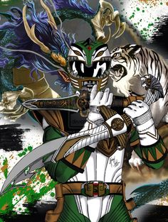 Dragon Zord and Tiger Zord combined