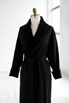 Black Terry Twill Spa Robe