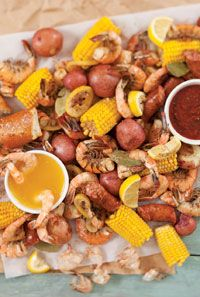 Shore is Good Shrimp Boil - Kick off the summer with a tasty seafood meal. Invite friends and family over for a casual, outdoor meal. They'll love the slower pace mixed with fresh air and fun. Pull out your biggest pot for the Shore is Good Shrimp Boil. Everyone will certainly be satisfied after the zesty mixture of shrimp, sausage, potatoes, and corn.