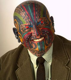 Think twice before getting such horrifying face tattoos
