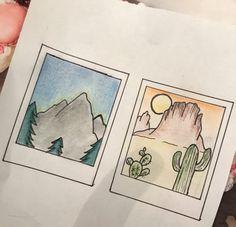 Polaroid picture drawing Cool Art Drawings, Doodle Drawings, Easy Drawings, Drawing Sketches, Mandala Artwork, Mandala Drawing, Mini Canvas Art, Polaroid Pictures, Wallpaper Iphone Cute