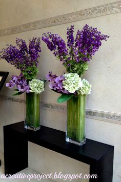 Creative Project: Floral arrangements for tabletops Wedding Hall Decorations, Tall Wedding Centerpieces, Glass Centerpieces, Centrepieces, Table Flowers, Flower Vases, Fruit Flower Basket, Tall Floral Arrangements, Hotel Flowers