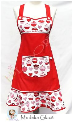 Retro Apron, Aprons Vintage, Sewing Aprons, Sewing Clothes, Modern Aprons, Flirty Aprons, Clothespin Bag, Cool Aprons, Apron Designs