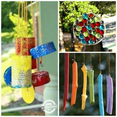 21 fabulous, easy outdoor ornaments to make at home with your kids. Whirligigs, wind catchers, wind chimes and more to brighten up your backyard! Wind Chimes Kids, Wind Spinners, Melted Pony Beads, Crafts For Kids To Make, Kids Crafts, Baby Crafts, Summer Crafts, Creative Crafts, Summer Fun